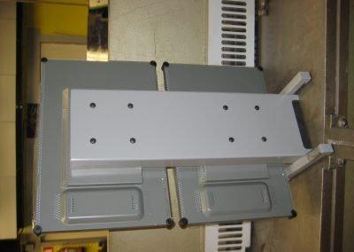 Bureau opstelling t.b.v. TFT schermen in staal