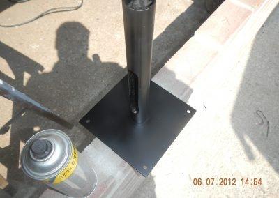 Stalen hangconstructie tbv camera gepoedercoat